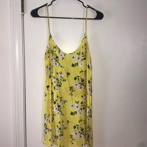 Yellow floral slip dress